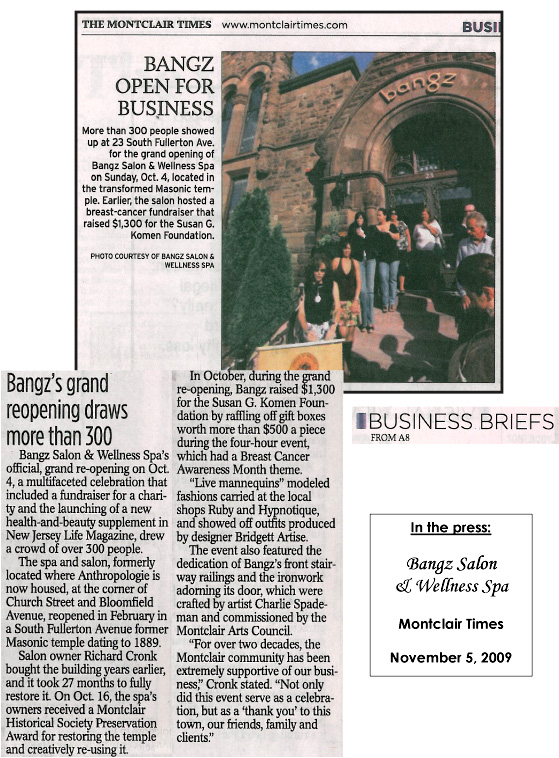 The Montclair Times November 2009