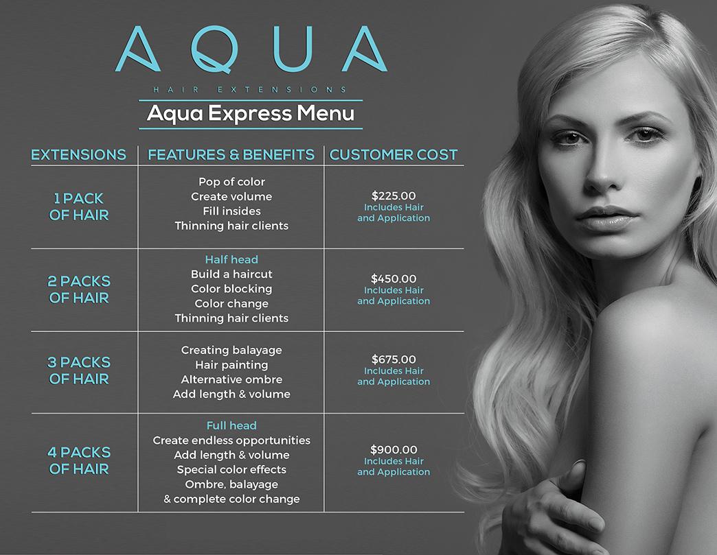 AQUA Express Menu