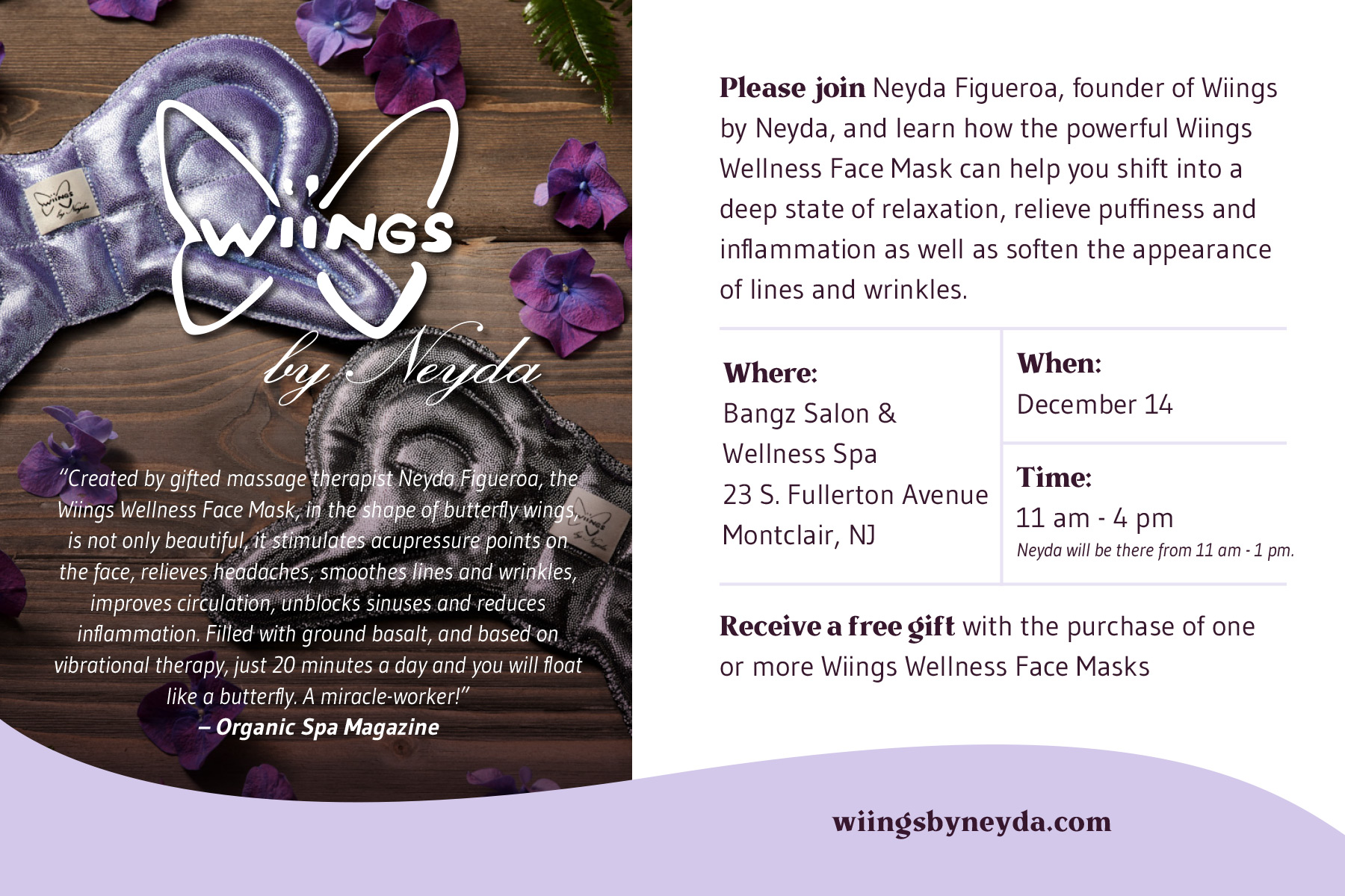 Wiings Special Event - December 14th, 2019